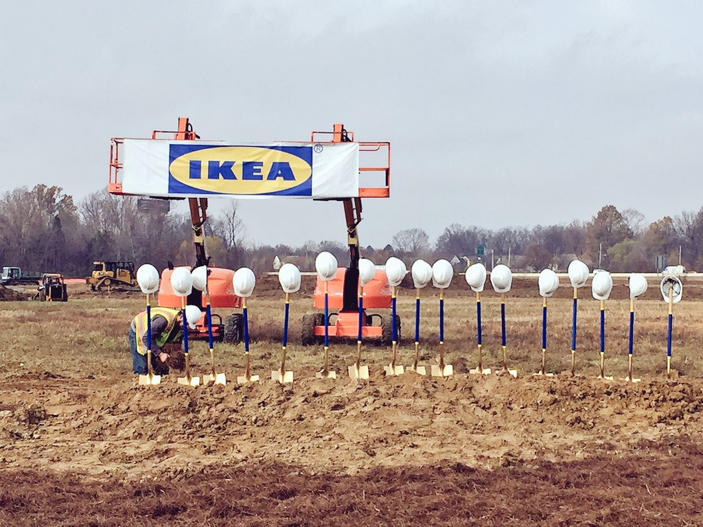 Excited to be celebrating the ground breaking of @IKEAMemphis today! /cm https://t.co/4btASAwJbq