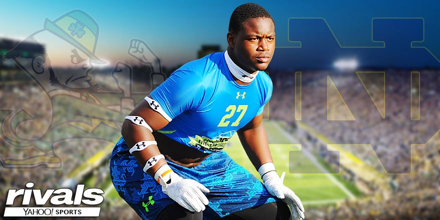BREAKING: 5-star linebacker Daelin Hayes has committed to #NotreDame .. Story: https://t.co/2J6xHA7Mdc https://t.co/ZCXmT7rwLX
