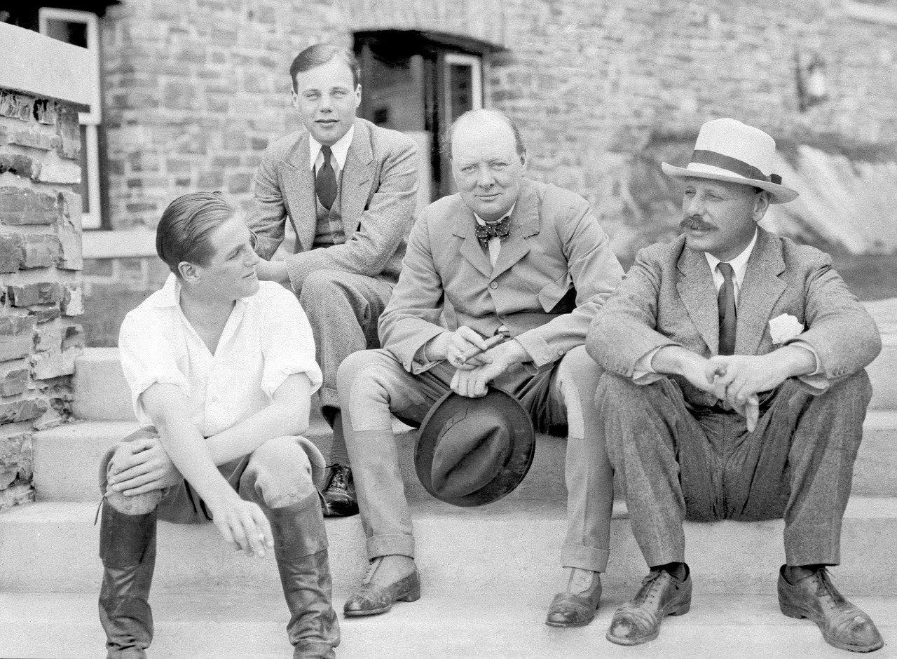 Sir Winston with his son Randolph Churchill (left) brother Major John Churchill (right) & nephew John Churchill https://t.co/fxpcQMOhOS