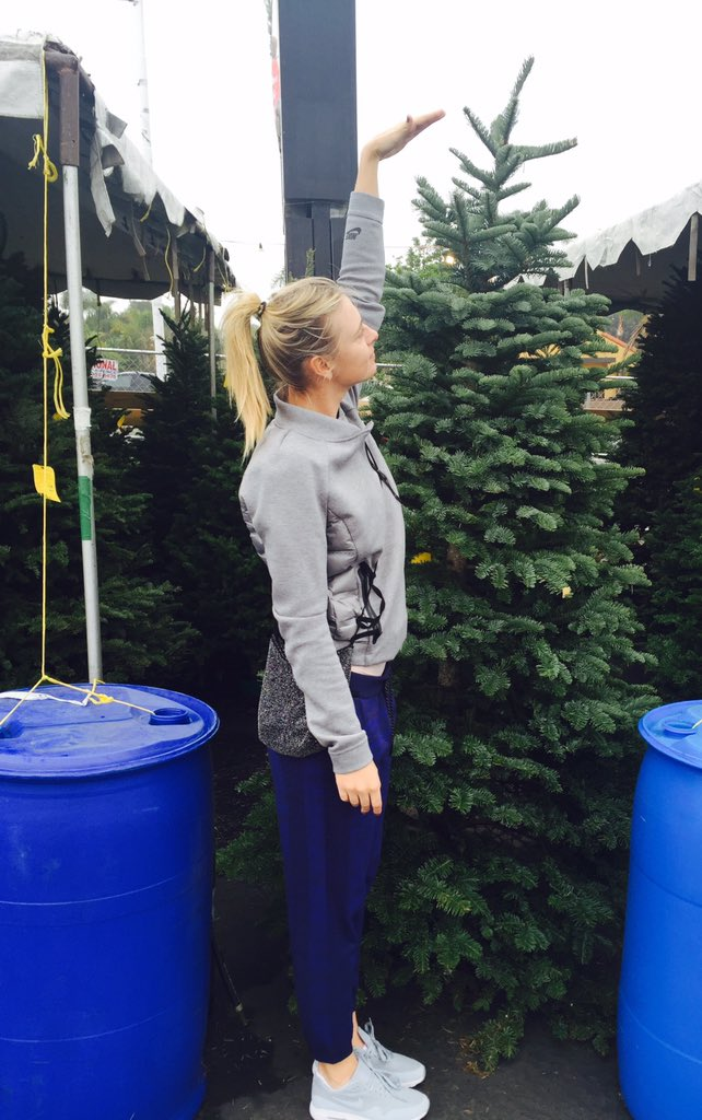 Sneaked in a tree pick up before practice today #Christmas https://t.co/y8MPlimaN7