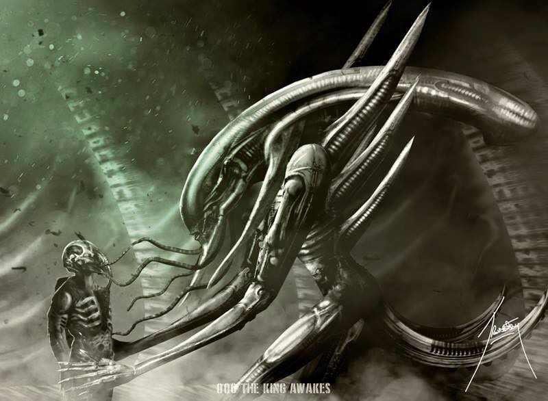 Alien covenant prometheus 2 paradise for Prometheus xenomorph mural