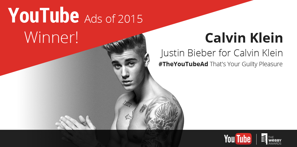 .@justinbieber @CalvinKlein Congrats on #TheYouTubeAd 'That's Your Guilty Pleasure' win!
