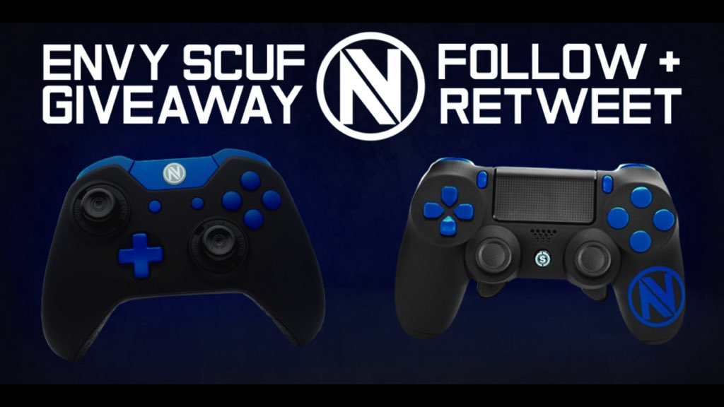 We're beginning the #EnVy300K celebration early with a double Scuf giveaway. RT/FOLLOW us and @ScufGaming to enter! https://t.co/diaPorhFke
