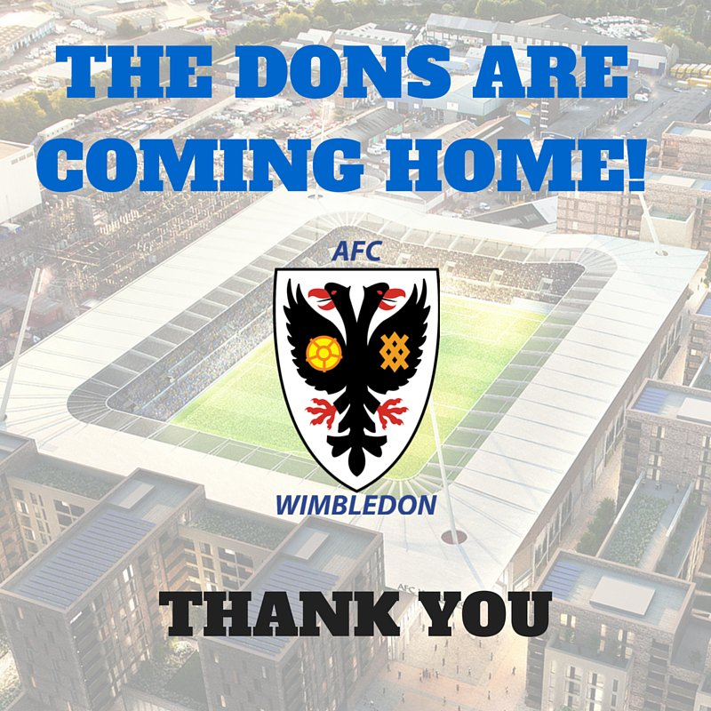 THE DONS ARE COMING HOME!!! #NewPloughLane #BringTheDonsHome https://t.co/WgL4xsLTDY