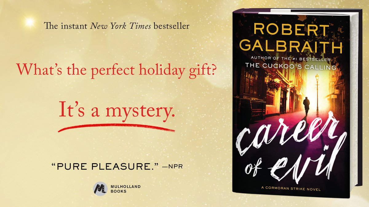 Introduce Strike and Robin to everyone on your holiday list #CareerOfEvil https://t.co/aAyfq5v8yr
