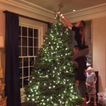 Setting up our Christmas tree - need a taller ladder in the house! https://t.co/O2zaV0jfZJ