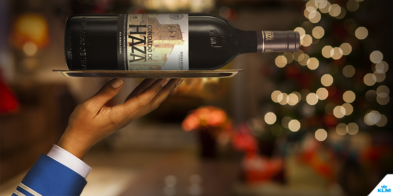 This month you can order special KLM Business Class Christmas wines online: