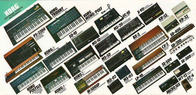 Korg's 1982 Synthesizer Line-Up: Bet you wish these were still available in your local… https://t.co/PGjkszUazg https://t.co/7pEHNnY0Rb