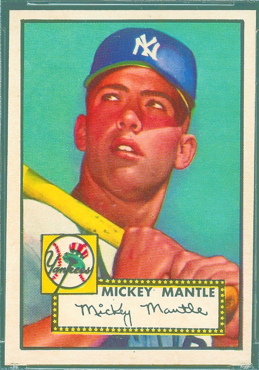 topps  a rare topps 1952 mickey mantle rookie card has