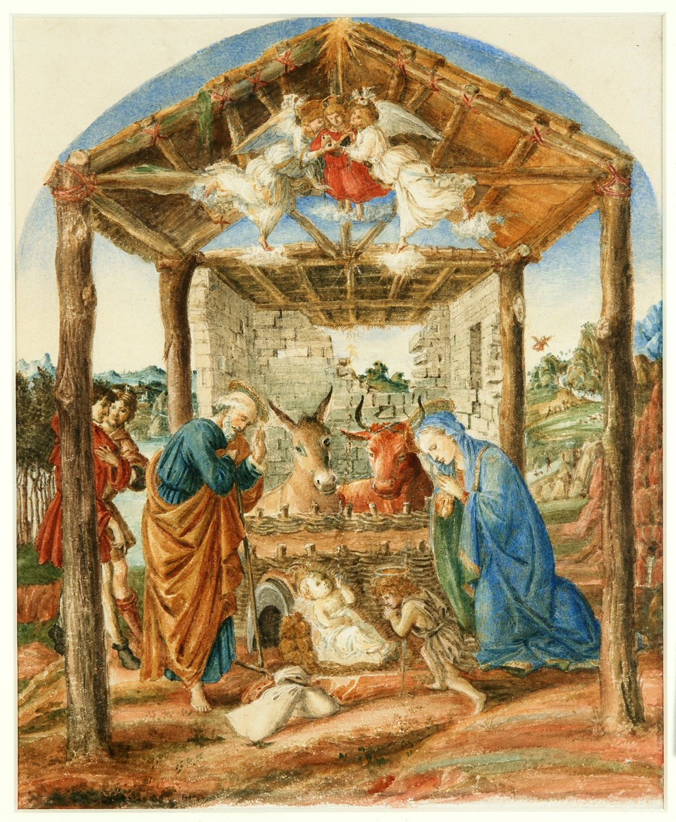 Today we're joining @NationalGallery #AngelTrail - here's 'The Nativity' after Botticelli by Charles Fairfax Murray. https://t.co/PCDtXeBHlG