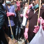 RT @RinkuGupta2012: With gloves masks n Brooms a cleaning drive by film fraternity n volunteers at Egmore today #ChennaiFloods https://t.co…