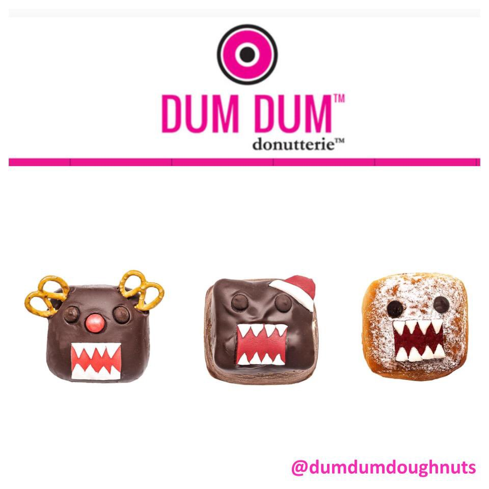 Limited Edition Domo Donuts from @dumdumdoughnuts. Which is your favorite? #domo #london #donut #cute #christmas https://t.co/cZenIu5rCz