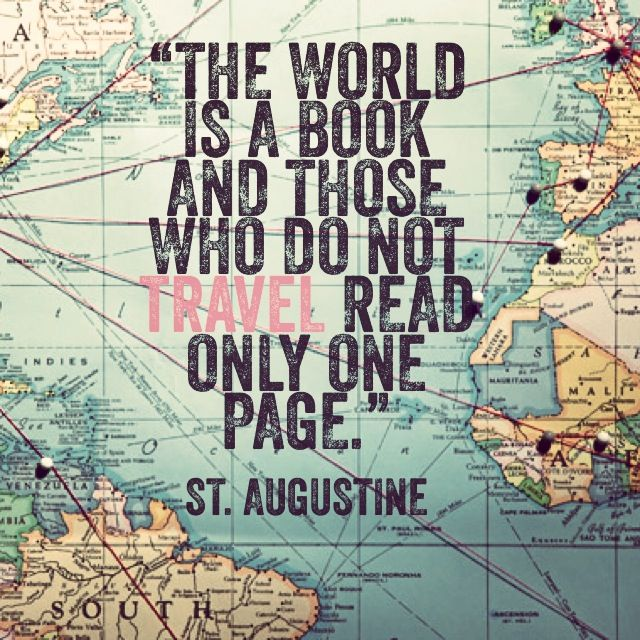 The world is a book & those who do not travel read only one page https://t.co/41hQEx92IK