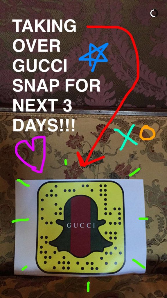 Live on Gucci #Snapchat, I'm taking over the official @Gucci account. #GuiltyNotGuilty https://t.co/5PNAwv1ZbV