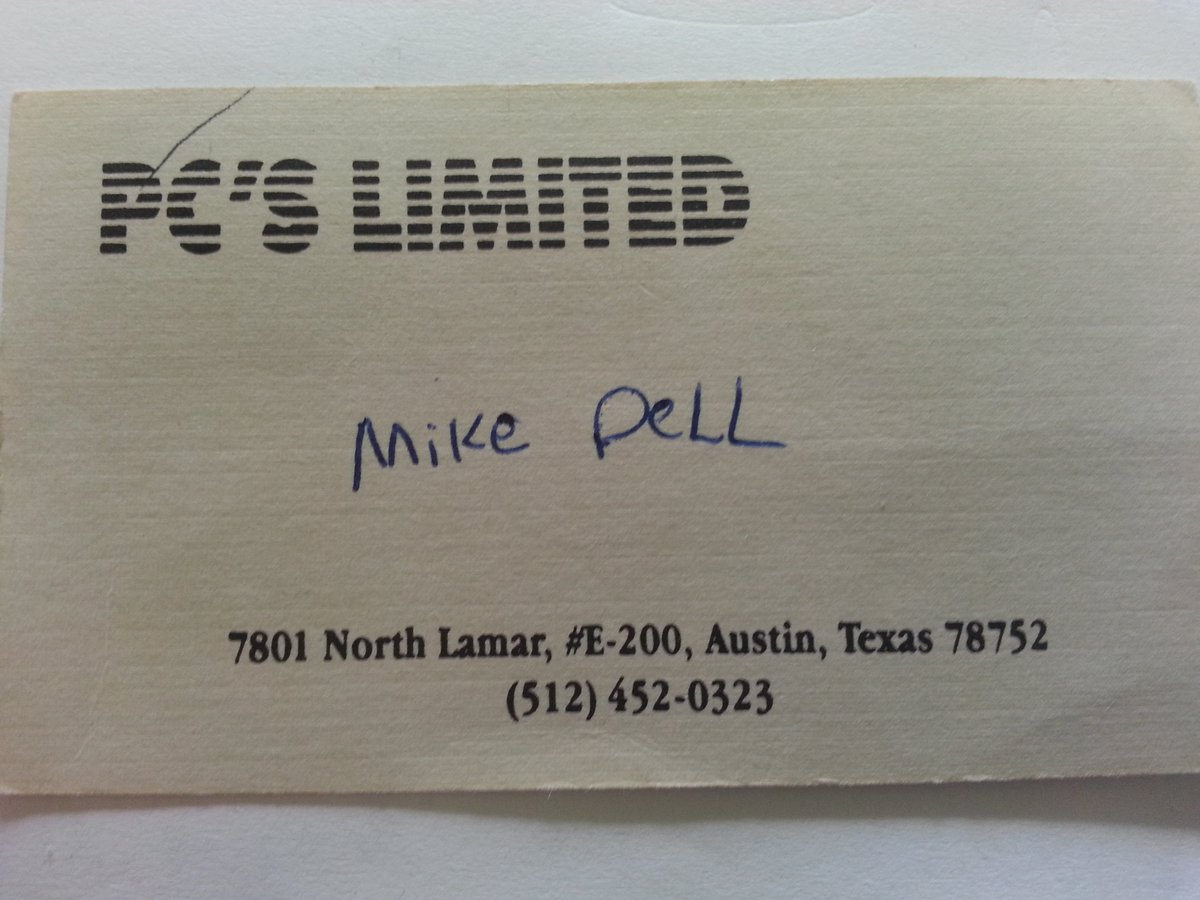 My business card in 1984, year I started. 1st space 1000 sq ft, lasted 30 days. Never forget where you came from. https://t.co/zDb7x1bWkY