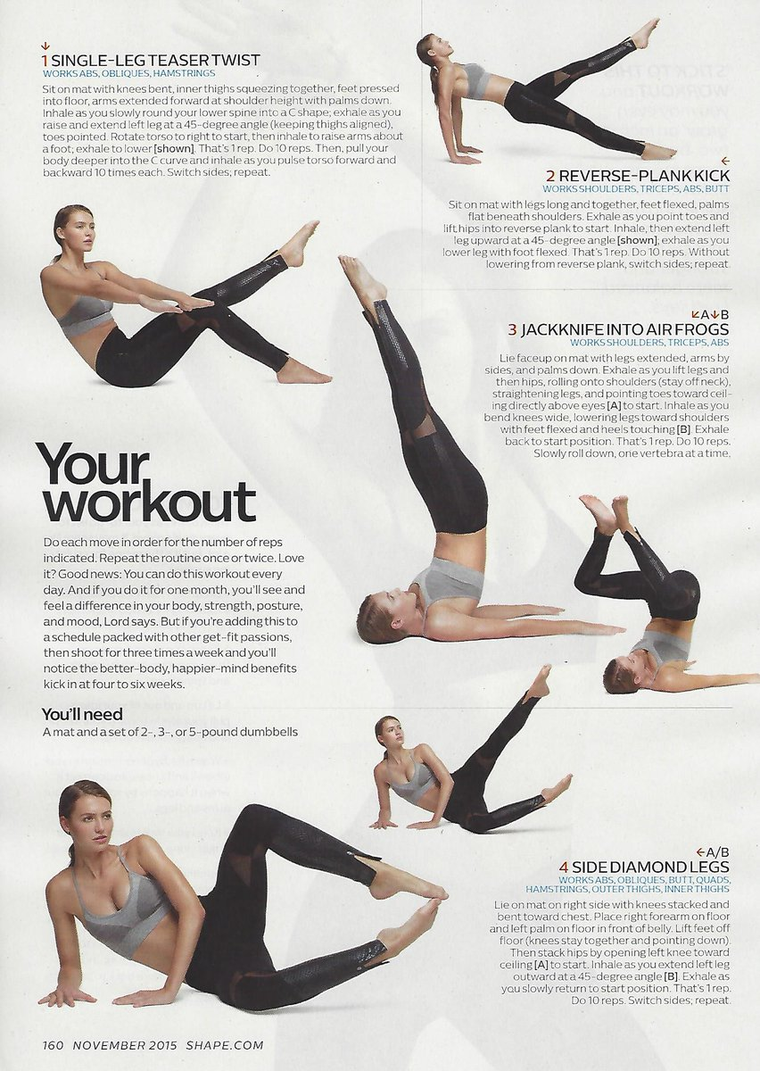 Pliates from @karenlordpilates https://t.co/FFUGlSq5tn from @Shape_Magazine #fitfluential #pilates https://t.co/cc33WddjwH