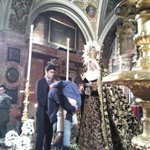 ???? Estampas que nos deja el Besamano de la Virgen de la Presentación de la Hermandad del @Hdad_Calvario https://t.co/8ZTR6nSTJv