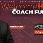 OFFICIAL NEWS Justin Fuente is Virginia Techs next head football coach! #WelcomeHOME https://t.co/gY75yb2iPU