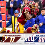 #Redskins head in at the half with a big lead. READ MORE | https://t.co/opR2efn2X0 https://t.co/QCM1H7JV8U