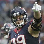 J.J. Watt is on ????????????! He has 9.5 sacks in his last 5 games and leads the league with 13.5 https://t.co/rtmVUN0zHU