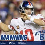 Eli Manning to Will Tye on fourth down for 29-yards! First down #Giants! #NYGvsWAS https://t.co/XsCOsDed5i