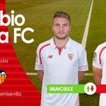Primer cambio en el #SevillaFC, entra @ciroimmobile por @llorentefer19 #vamosmisevilla #SFCvVCF https://t.co/26Xs2W7Few