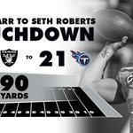 A 90-yard scoring drive when it matters most. #Raiders 1:21 remains in the fourth. #OAKvsTEN https://t.co/sAMTVGMKQB