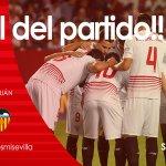 End of the game in Nervión #SevillaFC 1-0 @valenciacf #ComeonSevilla #SFCvVCF https://t.co/70MuUV9QYM