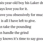 Kobe Bryant announces that he will departure from the NBA at the end of this season with a beautiful poem. https://t.co/u0mMYaVpOW