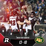 A wild back-and-forth first quarter. #GreyCup #RNation https://t.co/h92AGSZRtb