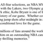 """@NBA: NBA Commissioner Adam Silver issued the following statement regarding @kobebryant's announcement today https://t.co/o9UAaV6Ak4"" 😭"