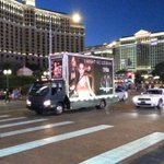 How cool is this mobile billboard?! It even plays my song! :) Tag me in your photos! #imightgolesbian #manika #vegas https://t.co/jOZmBbQIiK