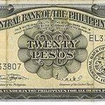 PHOTO: Twenty-peso bill in circulation from 1949 to 1969—the first depiction of Andres Bonifacio on PH banknotes. https://t.co/b8QAyDKEpf