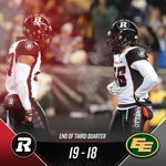 Up by one heading into the fourth quarter. #GreyCup #RNation https://t.co/ToneFtG5Kz