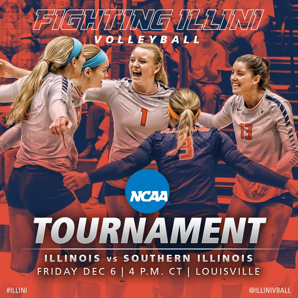 We're going dancing! #Illini vs. @SIU_Volleyball on Friday in Louisville at 4 CT! https://t.co/2LHVkLJUNd