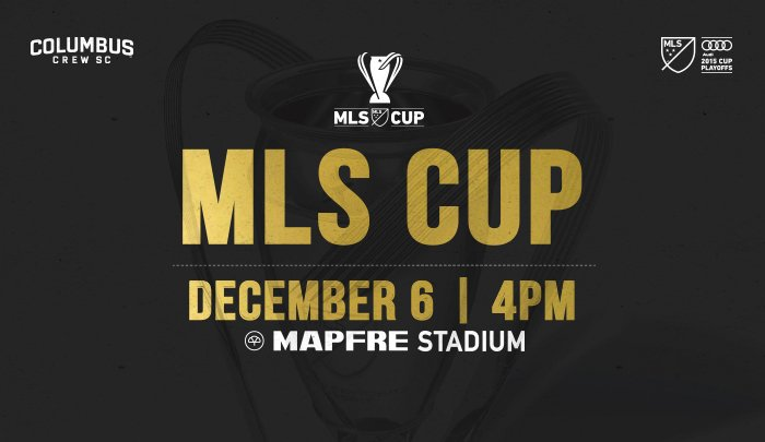 The 2015 @MLS Cup is coming to @MAPFREStadium! #CrewSC will host @TimbersFC at 4 pm on 12/6. https://t.co/VF6Y0rsj1J https://t.co/S3fYddQhhY