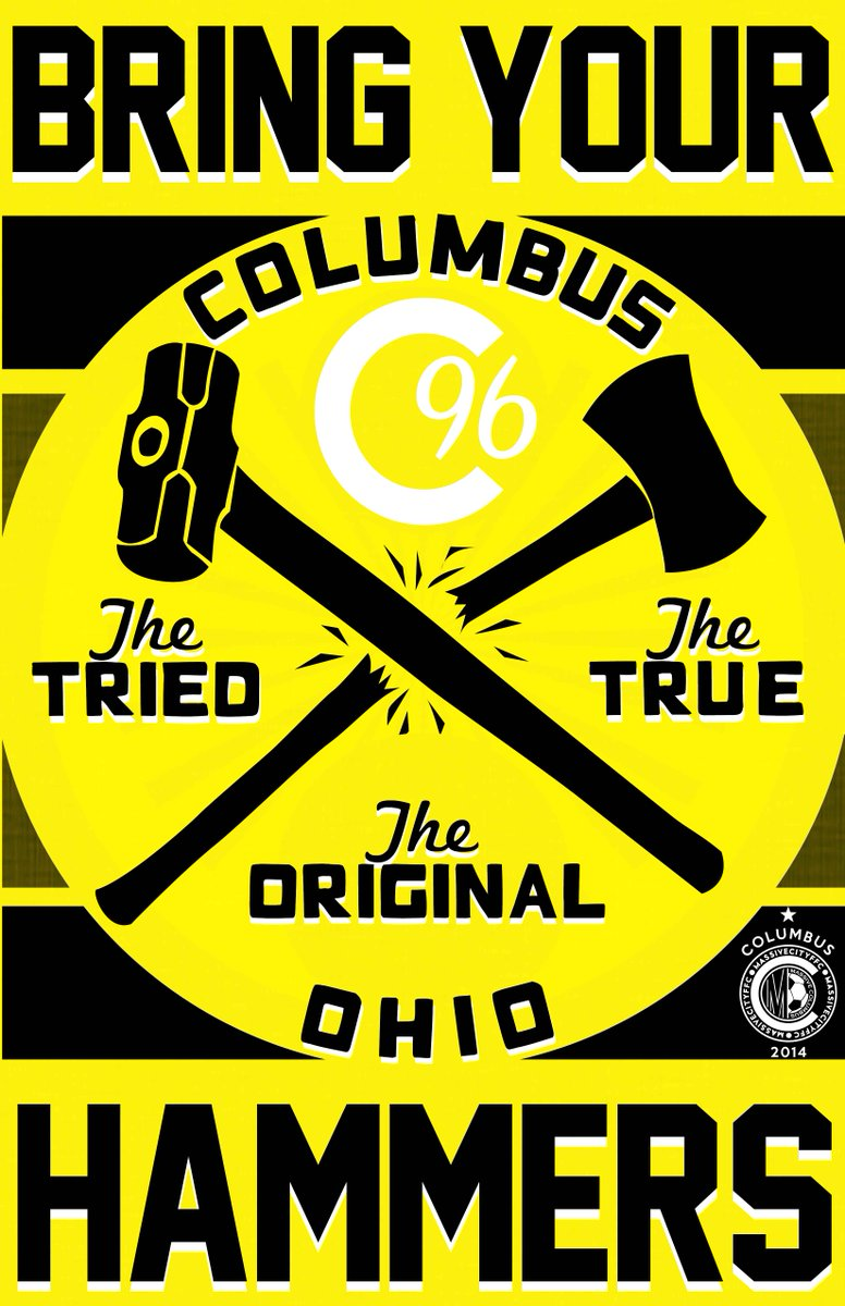 Bring Your Hammers, Ohio. #Columbus #CrewSC #PTFC #MLSCup https://t.co/RWh2c010ph