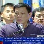 Duterte: I will stop corruption. I will fight criminality. #Eleksyon2016 https://t.co/pNkOvRQu2X https://t.co/RmRAAzW7ci