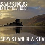 Good morning! Happy #StAndrewsDay from everyone @BBCScotland! https://t.co/RKrnaOVnLX