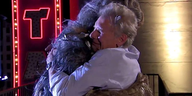 What feud? Chewbacca and Harrison Ford hug it out with help from @Adele's 'Hello'