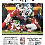 Heres @TheBuffaloNews @TBNSports #NFL Monday cover: The #Bills and their playoff hopes fall to the #Chiefs 30-22. https://t.co/NsojL6pBVR