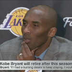 """""""Ive known for awhile...I had to accept the fact I dont want to do this anymore"""" -Kobe Bryant #LiveonSC https://t.co/0BGguJMgg5"""