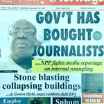 Daily Heritage: Govt has bought journalists • NPP fights media reportage on internal wrangling #CitiCBS https://t.co/czzdB9qkws