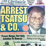 The Chronicle: Arrest Tsatsu & Co. for receiving GHc1M as ESB from GNPC - KT Hammond #CitiCBS https://t.co/caAKVEYygy