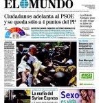 La encuesta @elmundoes nos sitúa 3 puntos por delante de PSOE y a solo cuatro puntos de ganarle al PP #20D. Seguimos https://t.co/TRgwL3tJUY
