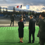 Good morning, world. At #COP21 entrance welcoming heads of state. We must, we can, we will https://t.co/P52OgTDB7o