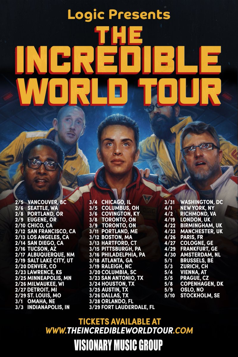 Logic returns to TX!! Tickets on sale Friday 10 AM! #TheIncredibleWorldTour  3.23 SA  3.24 HOU 3.25 ATX 3.26 DAL https://t.co/lCf0Zaxbsr