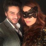Gorgeous #NadiaHussain with Ahsan Khan on day 2 Fashion Week !!! https://t.co/kvUtD4SDgz