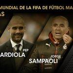 Finalistas a Entrenador Mundial de la FIFA del Fútbol Masculino · Luis Enrique · Pep Guardiola · Jorge Sampaoli https://t.co/XpbI7dqT8T