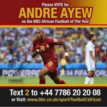 LAST CHANCE! Vote for Andre Ayew BBCs African Player of the Year closes today  6pmGMT: https://t.co/e8namTuU7P https://t.co/yBKXdoiEOJ